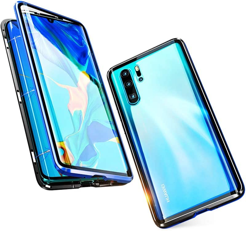 KumWum Metal Max 90% OFF Bumper Finally resale start for P30 Case Magnetic Adsorption Transparent