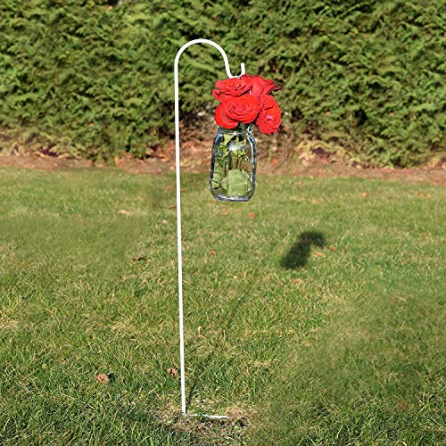Schäferhaken 96,5 cm, rostfrei, langlebig, starke Outdoor-Haken, Vogelfutterstange/Stange für Lichter, Pflanzen, Blumen