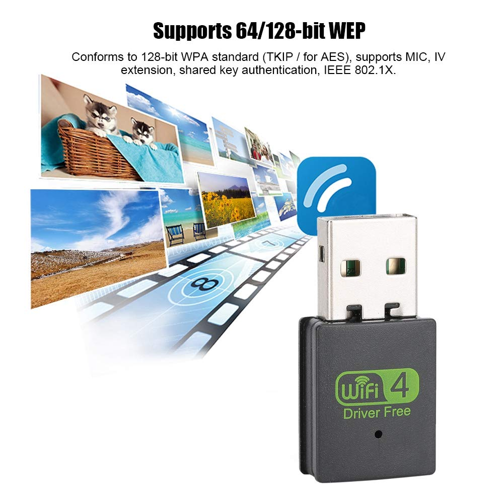 1 //Win10 Win7 Tosuny Mini USB2.0 Wireless Network Card Adapter 300Mbps for Windows XP Linnux Win8 Drive-Free