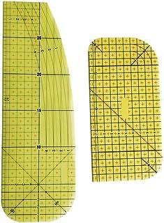 ARTIBETTER 2Pcs Régua de Plástico Resistente de Alta Temperatura de Engomar Quente Governante Patchwork DIY Tecido Costura...