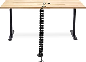 Mount-It! Cable Management Spine, Desk Cord Organizer Vertebrae, Keeps Power and AV Cords Safe and Organized, 50 Inch Long Modular Wire Management Tray, Black