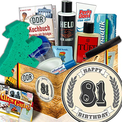 81 Geschenkideen / DDR Pflege Box Mann / Geschenke 81 Geburtstag Mann