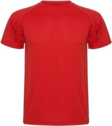 ROLY Camiseta técnica para niños Montecarlo, roja: Amazon.es ...
