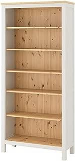 IKEA Hemnes Bookcase White Stain Light Brown 604.135.02 Size 35 3/8x77 1/2