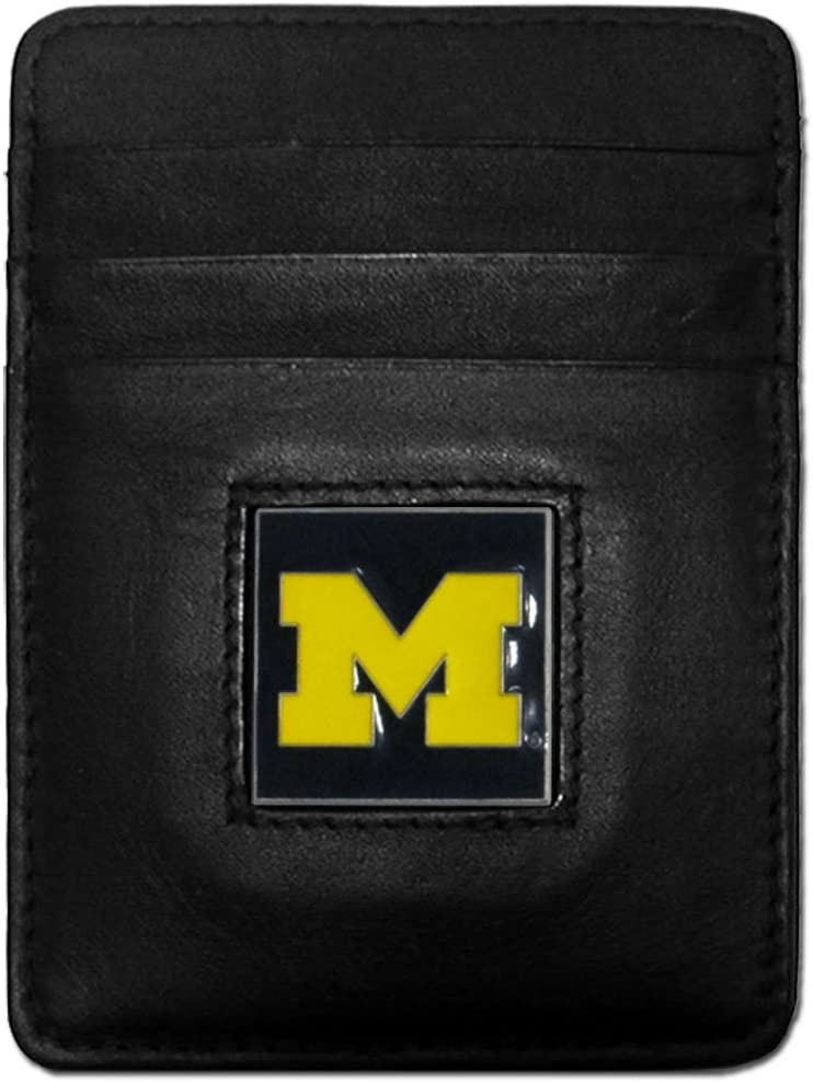 NCAA Leather Money Direct Courier shipping free shipping stock discount Clip Cardholder