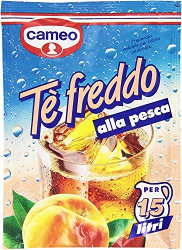 Cameo - Te' Freddo Alla Pesca, Preparato Solubile Per Bibita Analcolica - 24 pezzi da 90 ml [2160...