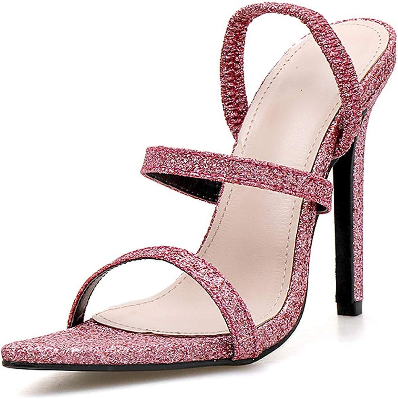 Women's Open Toe Stretch Strap Sandals Slippers Sexy Women's High Heel Sandals