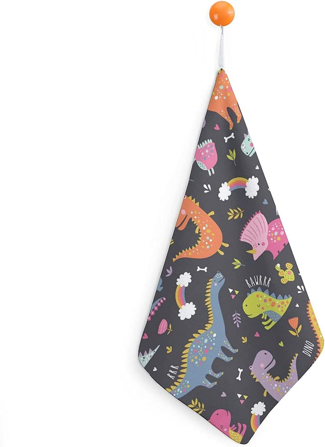 Cute Baltimore Mall Funny Kids Dinosaurs. Max 76% OFF Colorful Bathro Hand Animal for Towel