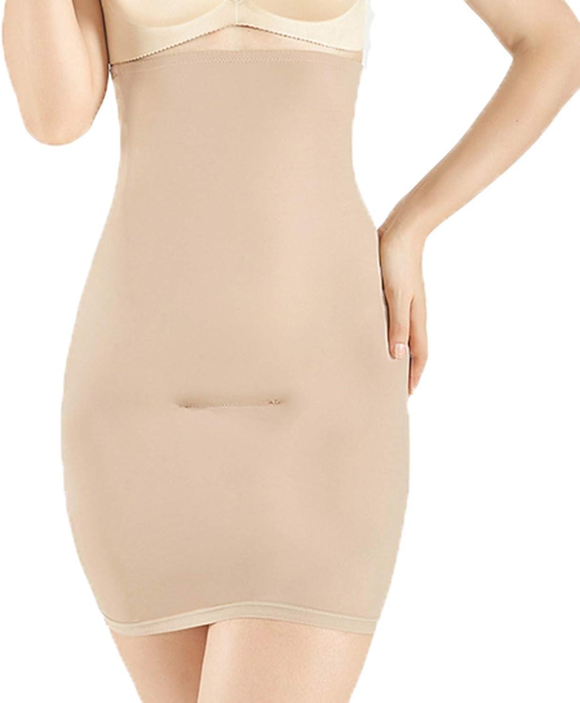 Women High Waist Half Slip Shapewear Tummy Control Body Shaper Under Dress Butt Lifter