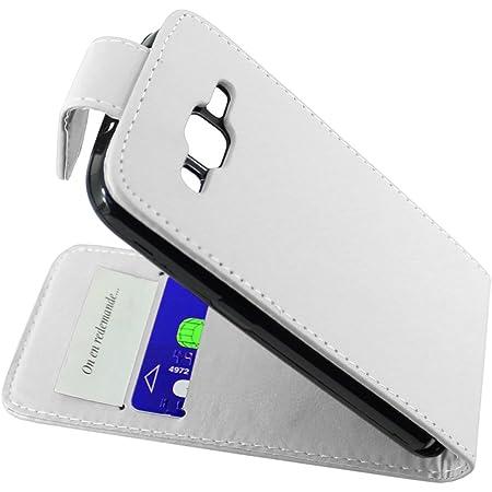 ebestStar - Coque Compatible avec Samsung Galaxy Core Prime SM-G360F, 4G SM-G361F VE Etui Housse PU Cuir Rabat Flip, Blanc [Appareil: 130.8 x 67.9 x ...