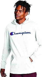 Champion Men's Long Sleeve T-Shirt Hoodie, Script Logo