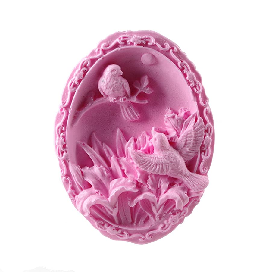 Longzang Birds S450 Art Silicone Soap Craft DIY Handmade Candle Molds