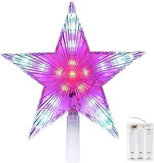 fiber optic tree topper star