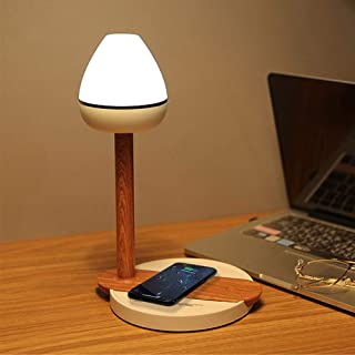 DLLL LED Desk Lamp,Eye-Caring Table Lamps,Dimmable Office Lamp with Qi Phone Wireless Charging Touch Control LED Night Lig...