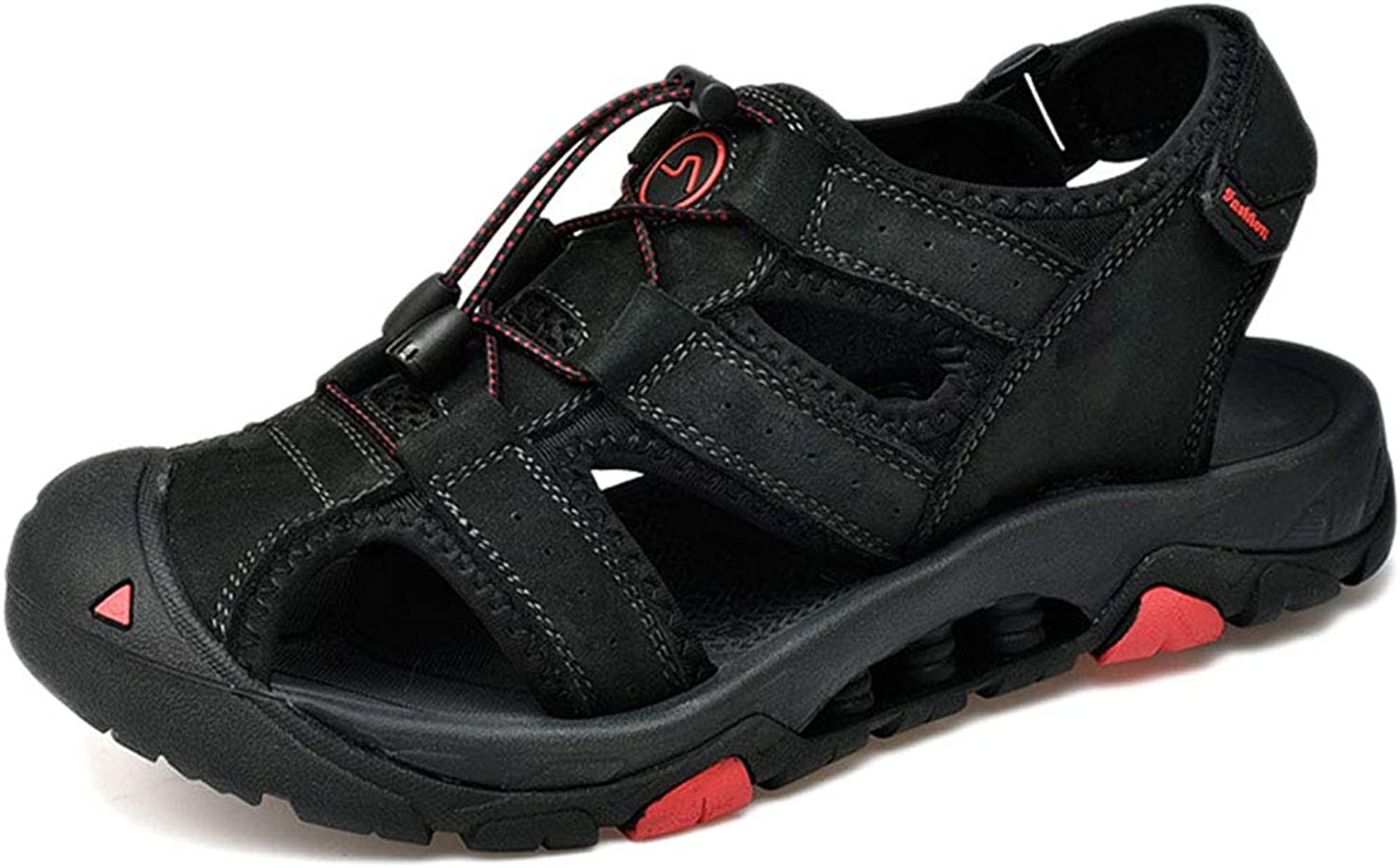 Men's Hiking Sandals,Summer,Travel,Comfort,weightweight,Casual Leather shoes Toe Cap Fashion Outdoor Beach shoes