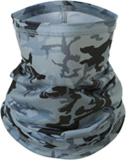 Goffu Neck Gaiter for Women and Men,Cool & Breathable Face Bandanas, Seamless Half Face Scarf Cover