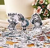 BLOUR 38 unids/Lote Vintage Alicia en el país de Las Maravillas Pegatinas de Papel Creativas Paquete Mini Pasta Deco Pegatina Regalo