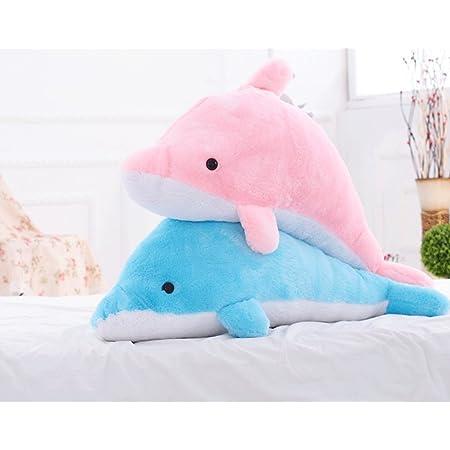 ぬいぐるみ 特大 海豚/イルカ いるか 動物 2色 100cm 可愛い 海豚ぬいぐるみ/縫い包み/クマ抱き枕/お祝い/ふわふわぬいぐるみ (ブルー)