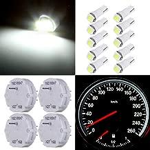 cciyu 4 Pack X27.168 stepper motors Instrument Repair Speedometer Gauge Cluster W/10 Pack T5 Wedge Bulbs