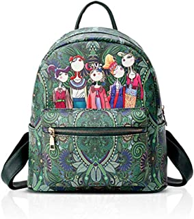 XHHWZB Children's Backpack Fashion Printing Travel Small Backpack Female Backpack Female New Ethnic Style Wild Retro