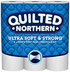 Quilted Northern Soft and Strong Toilet Paper, 9 Mega Rolls, 9 = 36 Regular Rolls, 328 2-Ply Sheets
