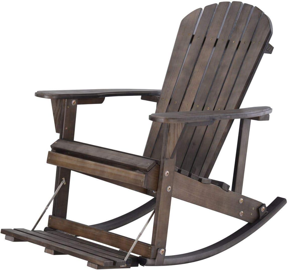 WUnlimited SW2007DB-R Max 65% OFF Adirondack Rocking Chair Brown Dark Cheap mail order shopping