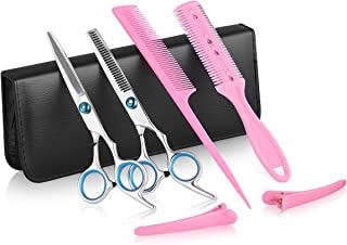 Professional Hair Cutting Kit, Xcellent Global Home Barber Salon Haircutting Thinning Hair Shears Kit with Comb and Storag...