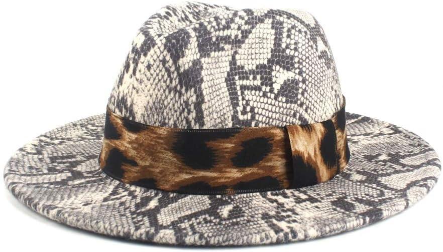 LHZUS Hats Wool Fedora Hat for Women Autumn Winter Lady Jazz Hat Church Hat with Wide Brim Jazz Hat Cloth Church Cap Size 56-58CM (Color : 7, Size : 56-58cm)