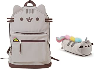 Cat Face Backpack and Pusheenicorn Accessory Case Set