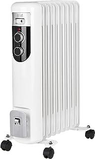 Teesa TSA8036 - Radiador eléctrico de aceite (2000 W, 9 aletas, termostato, 3 niveles de calefacción), color blanco