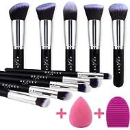 BEAKEY Makeup Brush Set, Premium Synthetic Kabuki Foundation Face Powder Blush Eyeshadow Brushes...