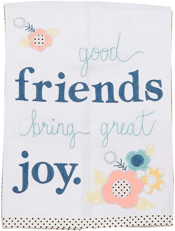 Glory Haus Friends Bring Joy Tea Towel Multicolor