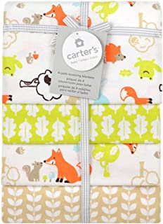 Carter's Receiving Blanket, Fox, 4 Count (Discontinued by Manufacturer)