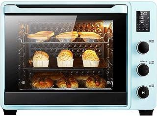 Oven CYN-Horno Tostador eléctrico de 40L, Control electrónico de Temperatura, horneado rotativo, fermentación, Rejilla de Acero Inoxidable, Capa de horneado de 4 Capas, 9 Recetas, 1800W Azul