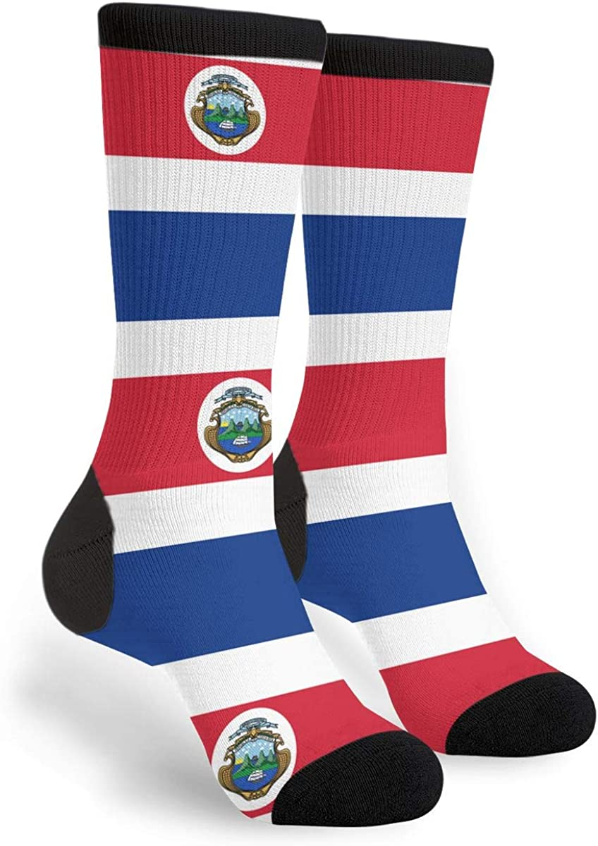 Flag Of Costa Rica Unisex Casual Sports Socks Knee High Athletic Long Tube Stockings