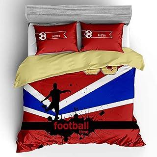 XLLJA Man sängklädesset sovrum, 3D-basketserie sängklädesset, påslakan med 2 kuddöverdrag, barnkammare enda kung-B_135 x 2...