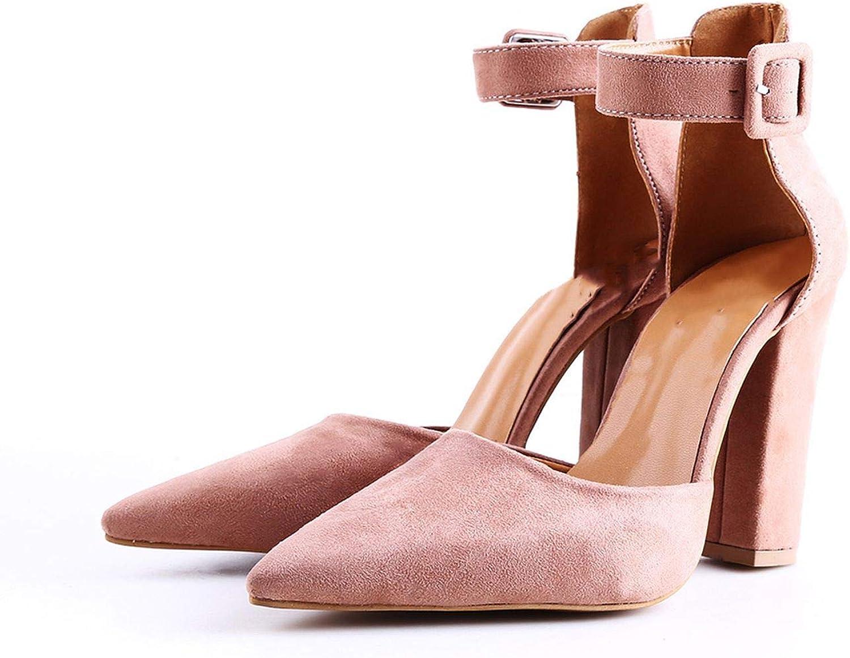 Kai-da Fashion Ladies High Heels women Pointed Toe Pumps Women shoes Woman Party Ankle Strap Pumps
