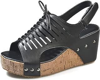 Femmes Noir Dunlop Toe Post Plate-forme basse-Compensé Confortable Sandales Chaussures Tailles 4-8