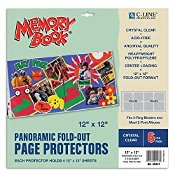 Panoramic Fold-Out Page Protectors