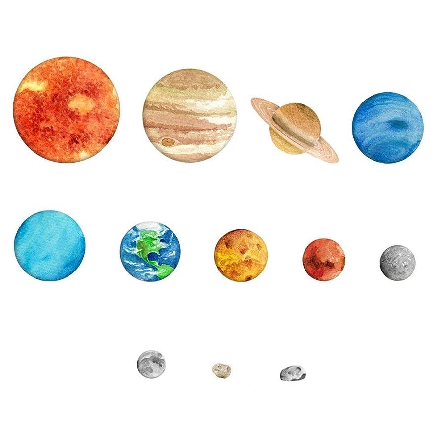 処理する救援適応Demiawaking ウォールステッカー 9つの惑星 宇宙 蓄光シール 子供部屋 男の子 インテリア雑貨 飾り 壁紙シール