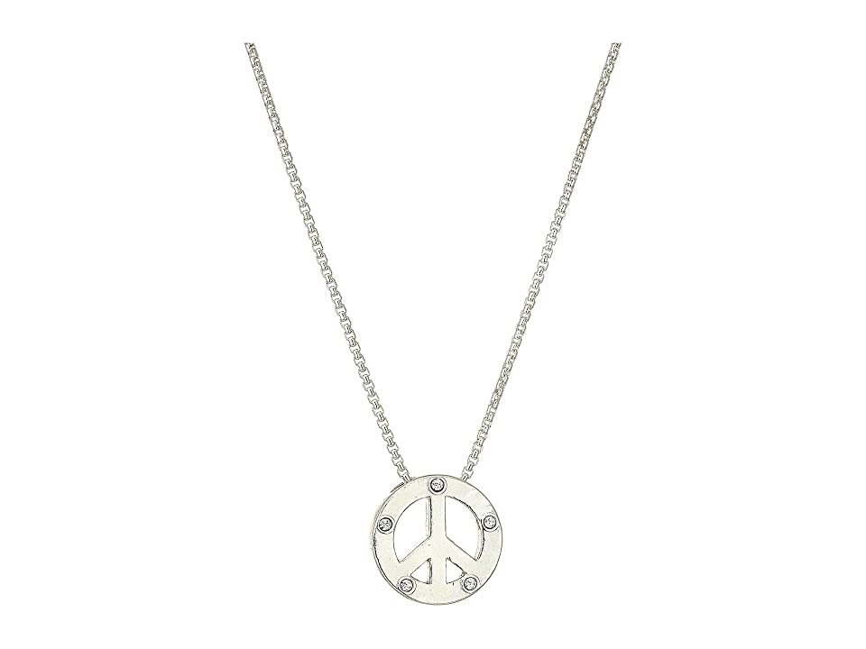 Image of Alex and Ani 18 Charity By Design, Unicef Peace Necklace (Silver) Necklace