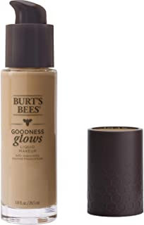 Burt's Bees Goodness Glows Liquid Foundation 1045, Warm Honey, 29.5 ml