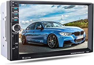 7021G 7 inch 2 Din Car Video Player MP5 Player BT GPS Navigation FM Radio Steering Wheel Remote Control Support Rear Camera