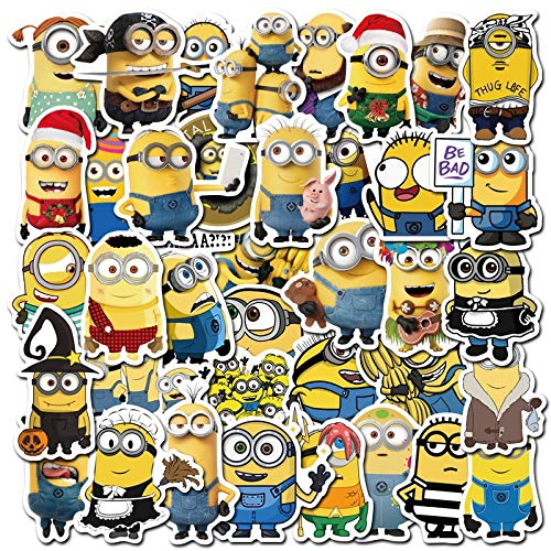 QINGMI Pack Minions Cartoon Movie Stickers For Notebook Motorcycle Skateboard Computer Mobile Phone Cartoon Toy Trunk Etc 50Pcs/