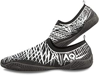 AQURUN Black & Silver Swimming & Water Games Shoe For Unisex