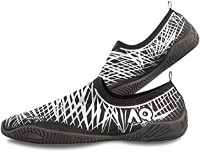 AQURUN Black & Silver Swimming & Water Games Shoe For Unisex