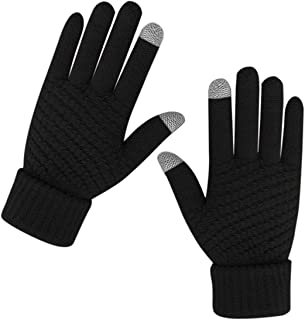 Women Winter Warm Touch Screen Gloves Knitted Soft Elastic Thick Gloves for Clod Weather