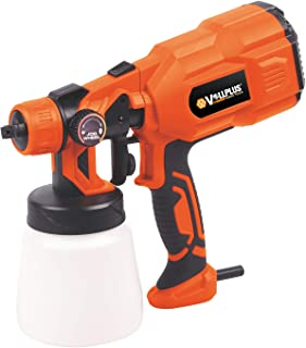 Vollplus 550W Electric Paint Sprayer High Power HVLP 800Ml Paint Container, Jog Wheel Flow Control, Detachable, and Lightweight Easy Cleaning Electric Spray Gun with Copper Nozzles VPSG1018
