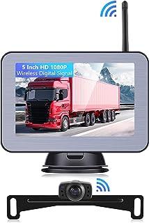 FHD 1080P Digital Wireless No Interference Signal Backup Camera Kit with 5 Inch HD Car Monitor and IP68 Waterproof Rear Vi... photo