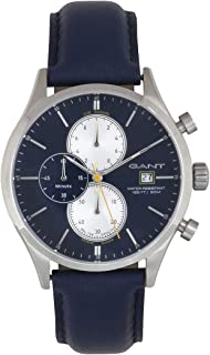 Gant Vermont Men's Blue Dial Leather Band Watch - G Gww70409, Analog Display, Seiko Vd57 Movement